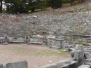 Priene theater -one of the best preserved examples from the Hellenistic period, 6500 seats; an altar -to the right of Dennis, was placed in the first row for sacrificial rites which were a part of the evening entertainment when they held plays.