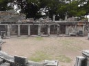Priene theater stage.