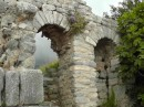 Priene -Sanctuary of Asclepios, God of healing (purple wildflowers at top of arches).