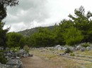 Priene -rain clouds headed our way and we got a few drops as we left the site.