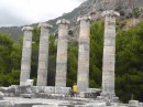 Priene - Temple of Athena -note different sizes of column blocks but each column the same height.