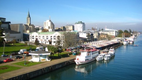 Main waterfront in Valdivia.
