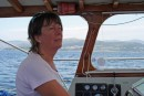 Liz at the helm