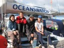 Magic Roundabout Team : Natalie, Cleo, Chris and Lily, in Opua just before leaving for the Islands.