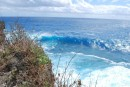 Big waves on windward side of Tonga Tapu
