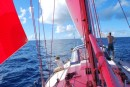 pretty red sail