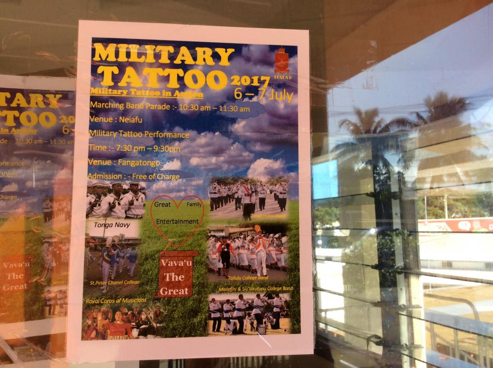 Signage for Military Tattoo.: Celebrating the King
