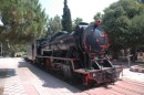 WW2 German steam engine in Kalamata Railway Museum.
