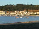 Cangas fishing boats in the morning sun.
