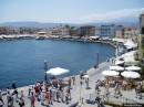 Chania harbourside.