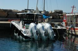 Runabout in Cargese harbour
