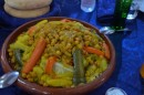 Lunch, tagine with chicken.