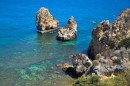These are the famous grottos of Lagos and this coast of Portugal.  They are very popular and you can see why.