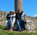 The Gang: A pic of us in front of the last remaining Doric Pillar