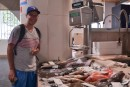 Mike at the fish market