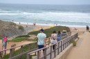 The board walk on the west coast of Portugal which was a stop on a day of sightseeing