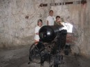 "One of the canons in the ""Siege Tunnels"""