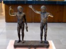 In days of old (like 300 BC) the long jumpers held weights and let them go before jumping - illustrated in statues from 300 BC