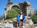 Lycian ruins - 2000 years old.  An hour walk to there...hot!