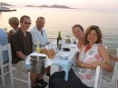 Out for dinner in Nausou, Paros
