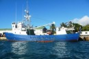 Freighter that also carries passengers to outlying Cook Islands.