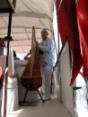 World class harpist....The music was absolutely breathtaking! The musician was hired on a neighboring boat for the cat