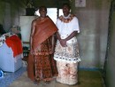Jope and best man - look at the beautiful Masa cloth