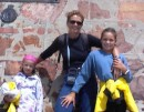 the girls and I - PORT ELIZABETH- at the start of our voyage.  Rochelle just had her 6th birthday