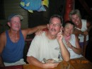 "Gary, Frank, Marylou and Patty at ""The Pirate"", Bocas Town"