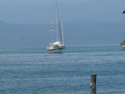 Lorelei at anchor, Bocas del Toro