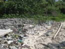 Trash washed up on Cayo Vivarillos