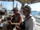 John and Gary jamming aboard Lorelei