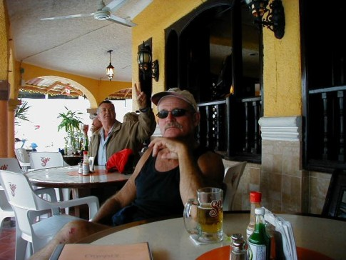 Gary at the Canadian bar (before the tequila shots)