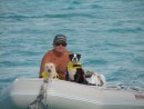 Gary, Pearl and Bodee, Staniel Cay