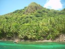 Snorkeling by Santa Catalina, which is right beside Isla Providencia.  Its very lush and tropical looking