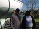 Me with Lee, the yard manager in Deltaville, VA
