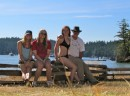 With the girls at English Camp on San Juan Island.