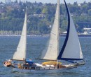 Sailing by the office (Jensen Maritime Consultants/Crowley Marine Corporation) on Harbor Island, Seattle, WA.