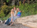 With Lisa and Claire on Sucia Island.