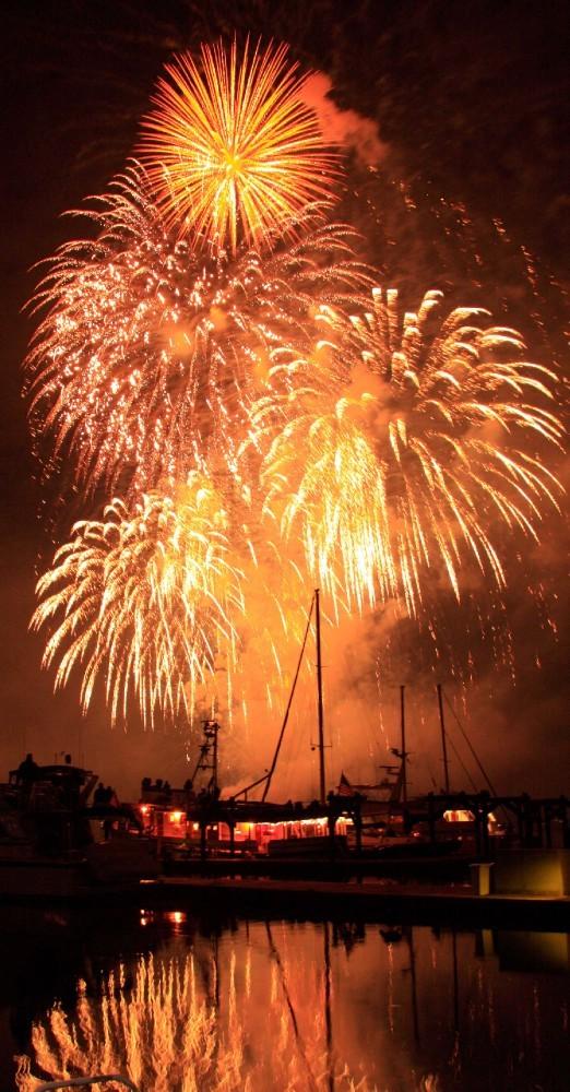 July 4th fireworks on Eagle Harbor