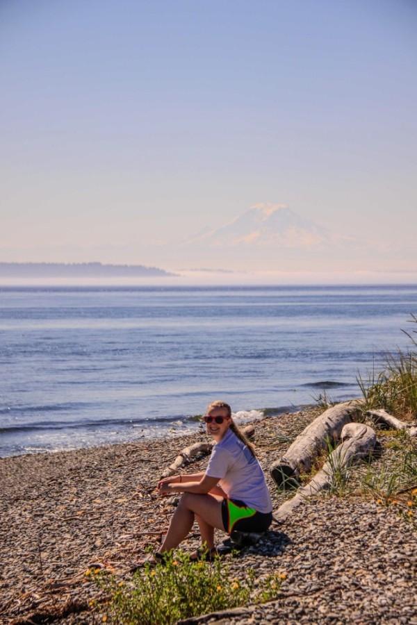 With Lisa on Blake Island