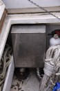Water box for propane water heater exhaust