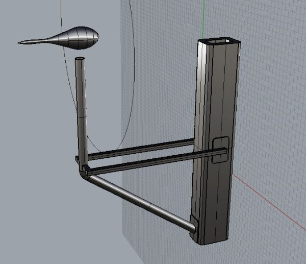 New wind generator mast mount concept.