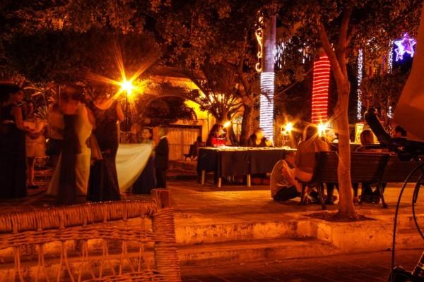 Night scene on the square