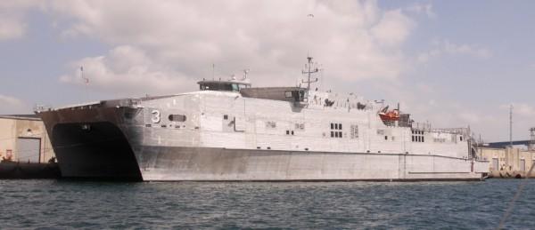 High speed catamaran transport vessel