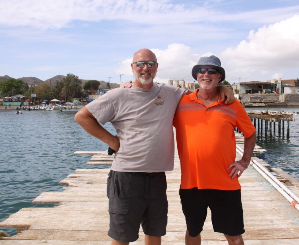 Dave and I arriving ashore in Bahia Tortuga