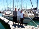 Bob, Shane and I are ready for our 1000 miles passage to New Zealand