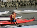 A young paddle boarder