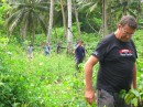 Ian takes us to check on the Vanilla Plantations