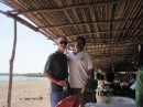 Bob and Ismael on the beach at Mantanchen